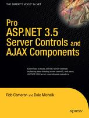 Pro ASP.NET 3.5 Server Controls and AJAX Components
