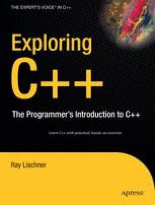 Exploring C++