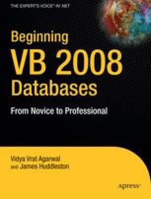 Beginning VB 2008 Databases