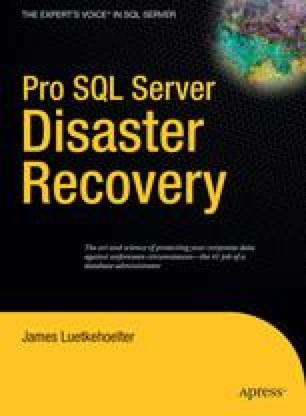 Pro SQL Server Disaster Recovery