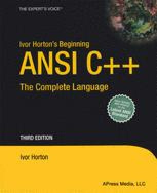 Ivor Horton's Beginning ANSI C++: The Complete Language