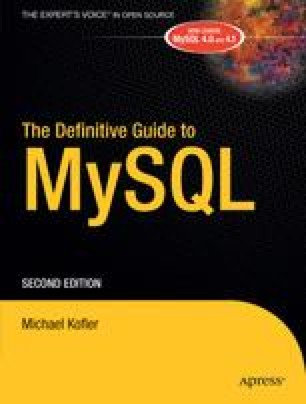 The Definitive Guide to MySQL