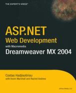 ASP.NET Web Development with Macromedia Dreamweaver MX 2004