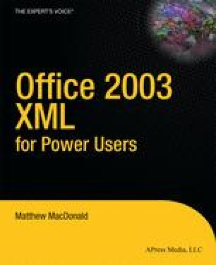 Office 2003 XML for Power Users