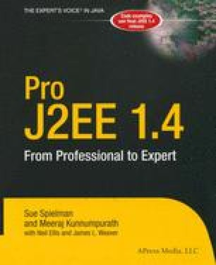 Pro J2EE 1.4: From Professional to Expert
