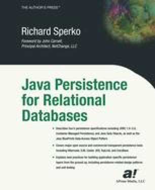 Java Persistence for Relational Databases