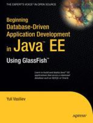 Beginning Database-Driven Application Development in Java™ EE