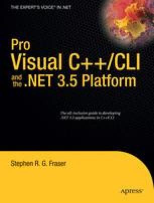 Pro Visual C++/CLI and the .NET 3.5 Platform