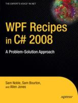 WPF Recipes in C# 2008