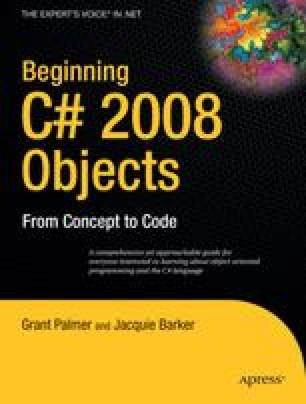 Beginning C# 2008 Objects
