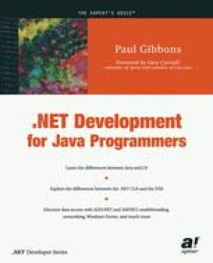 .NET Development for Java Programmers