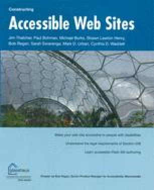 Constructing Accessible Web Sites