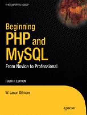 Beginning PHP and MySQL