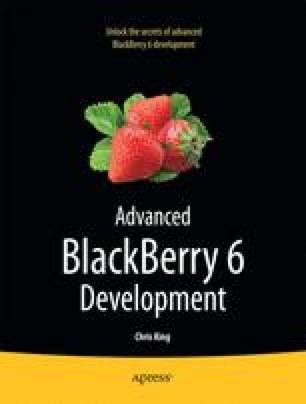 Advanced BlackBerry 6 Development