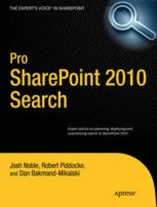 Pro SharePoint 2010 Search