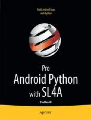 Pro Android Python with SL4A