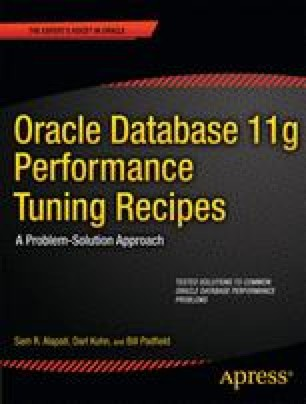 Oracle Database 11g Performance Tuning Recipes