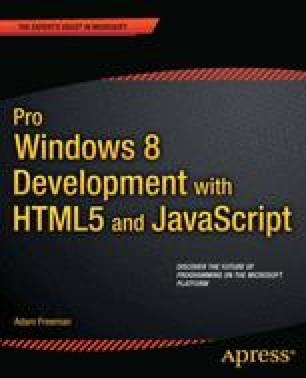 Pro Windows 8 Development with HTML5 and JavaScript