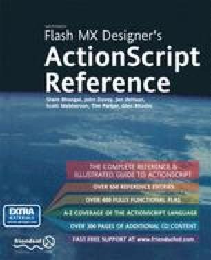 Flash MX ActionScript Designer's Reference
