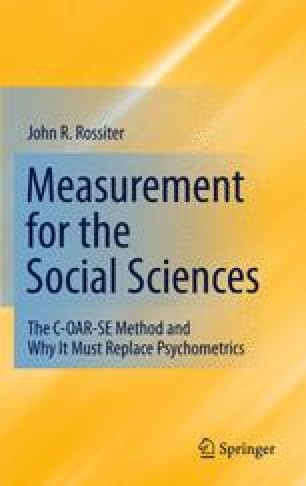 Measurement for the Social Sciences
