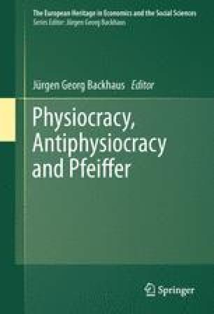 Physiocracy, Antiphysiocracy and Pfeiffer