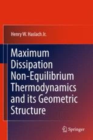 Maximum Dissipation Non-Equilibrium Thermodynamics and its Geometric Structure