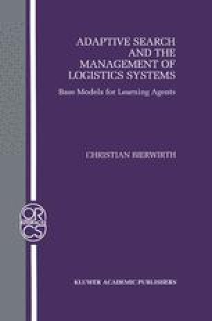 Adaptive Search and the Management of Logistic Systems