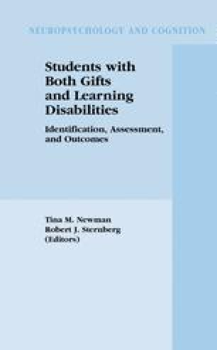 When Is Student Gifted Or Disabled New >> The Identification Of Gifted Students With Learning