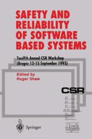 Safety and Reliability of Software Based Systems