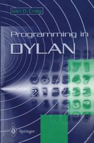 Programming in Dylan