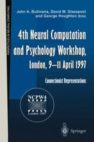 4th Neural Computation and Psychology Workshop, London, 9–11 April 1997