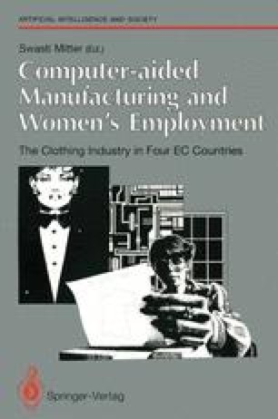 Computer-aided Manufacturing and Women's Employment: The Clothing Industry in Four EC Countries