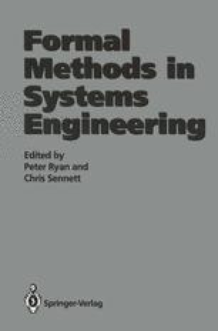 Formal Methods in Systems Engineering