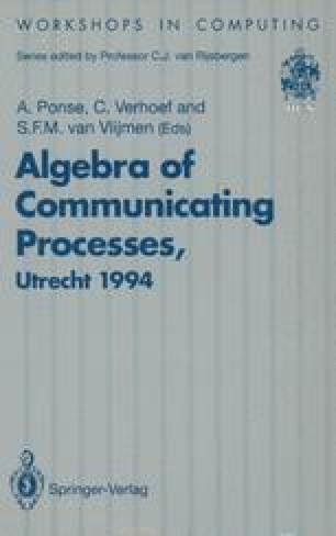 Algebra of Communicating Processes
