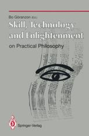 Skill, Technology and Enlightenment: On Practical Philosophy