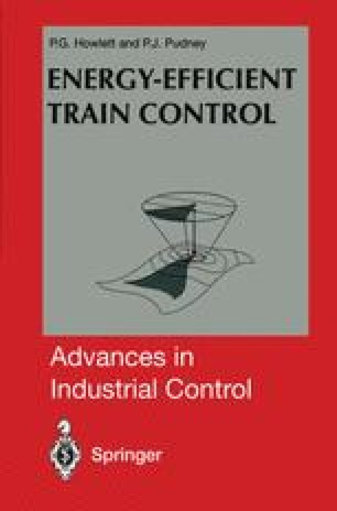 Energy-Efficient Train Control