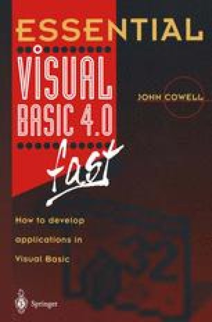Essential Visual Basic 4.0 Fast