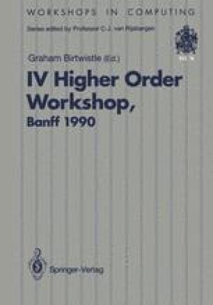 IV Higher Order Workshop, Banff 1990