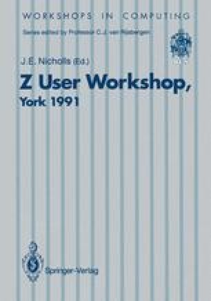 Z User Workshop, York 1991