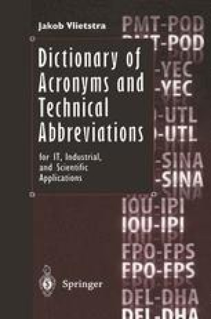 Dictionary of Acronyms and Technical Abbreviations
