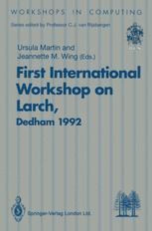 First International Workshop on Larch