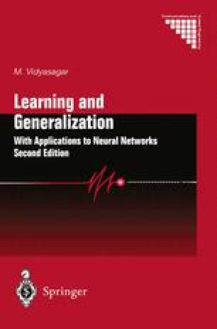 Learning and Generalisation