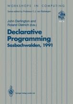 Declarative Programming, Sasbachwalden 1991