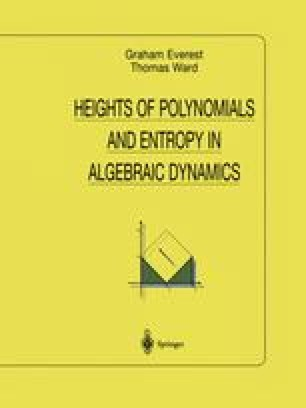 Heights of Polynomials and Entropy in Algebraic Dynamics