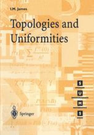 Topologies and Uniformities