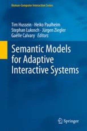 Semantic Models for Adaptive Interactive Systems