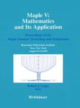 Maple V: Mathematics and its Applications