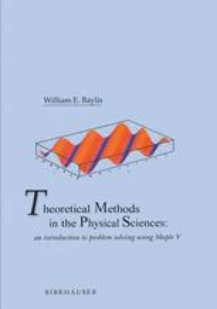 Theoretical Methods in the Physical Sciences