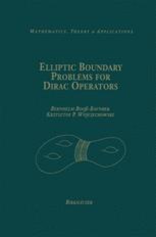 Elliptic Boundary Problems for Dirac Operators