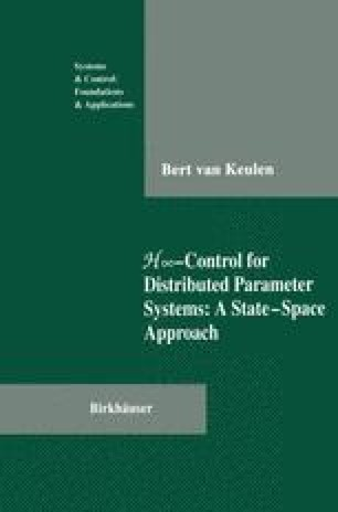 H∞-Control for Distributed Parameter Systems: A State-Space Approach